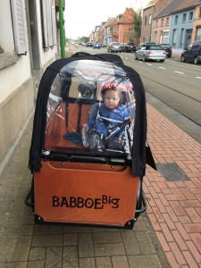 Hugo in de bakfiets